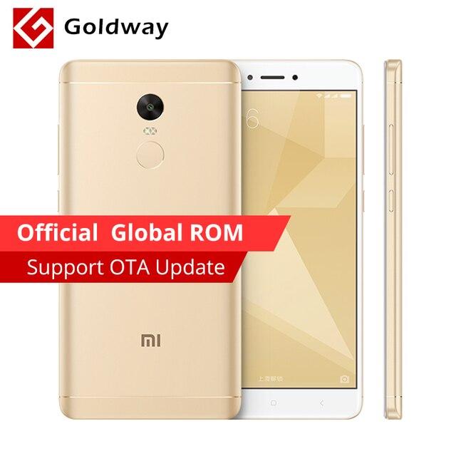 """Оригинальный Xiaomi Redmi Note 4x4x3 ГБ оперативной памяти 32 ГБ ROM Смартфон Snapdragon 625 Octa Core 5.5 """"FHD отпечатков пальцев ID 13.0MP камеры"""