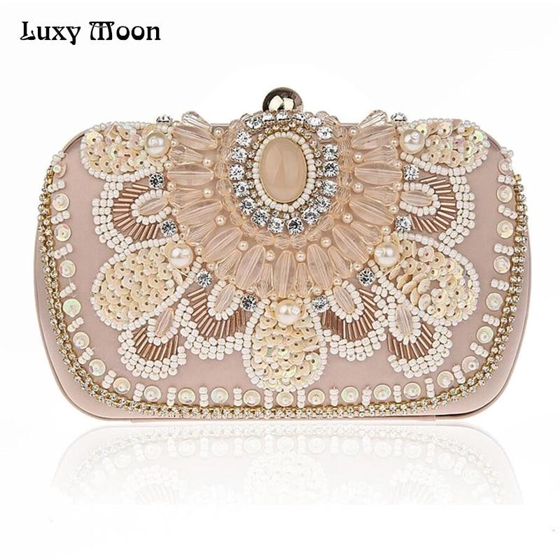 Luxy moon metal box bolsos de embrague bolsa de noche de las mujeres mini bolso