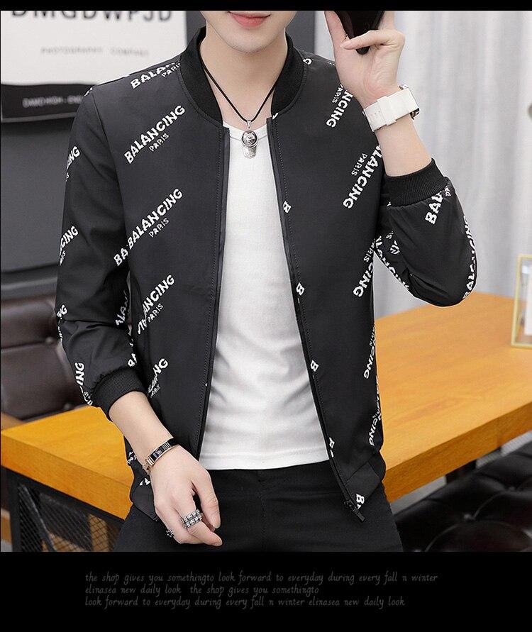 HTB1AcejXvvsK1Rjy0Fiq6zwtXXaK Printing Fashion 2019 Brand Mens Bomber Jacket Thin Men Baseball Jackets Casual Jacket Coat Overcoat For Male Clothing