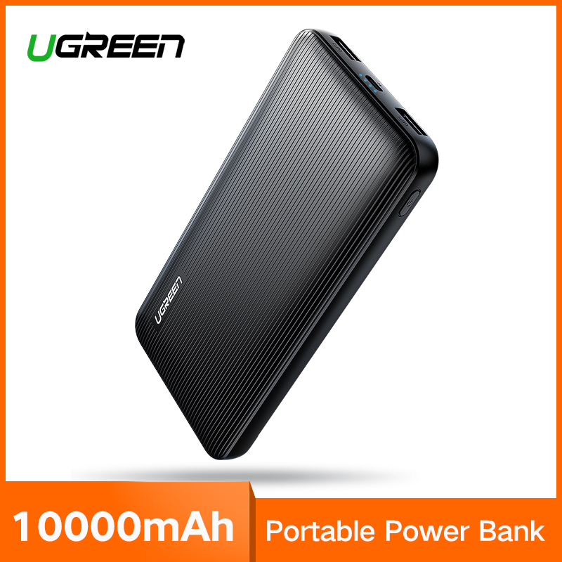 Ugreen Banco de la energía 10000 mAh para el iPhone X 8 cargador de batería externa portátil para teléfonos celulares Xiao mi 7 huawei P20 Pro Powerbank