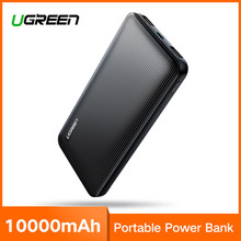 Ugreen Power Bank 10000mAh for iPhone X 8 Portable External Battery Charger for Cell Phones Xiaomi mi 7 Huawei P20 Pro Powerbank(China)