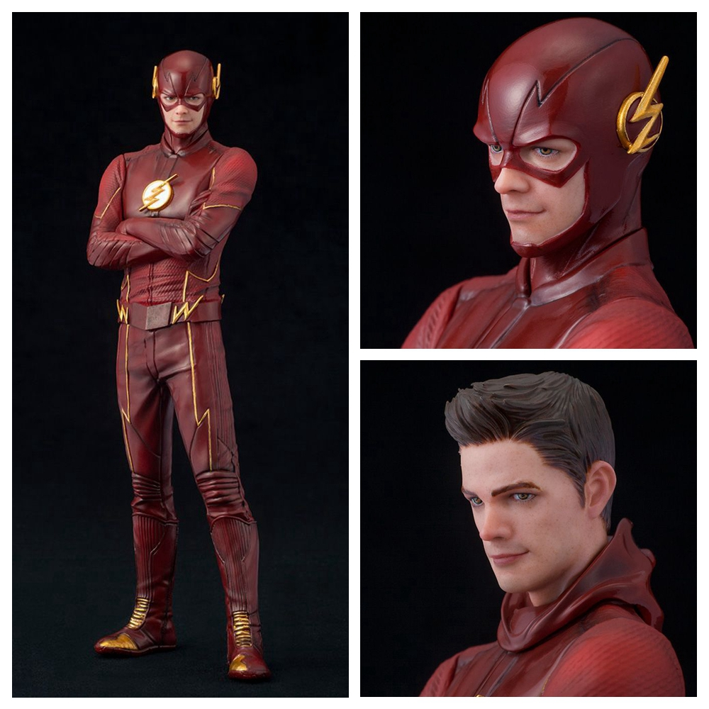 DC Comics 18cm Super hero Justice League The flash Action figure toys ARTFX+ Barry Allen PVC 1/10 Collection Model toy ...