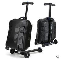Brand 21scooter suitcase with wheels Travel Luggage Case micro Scooter Case quality skateboard rolling luggage suitcase Baggage