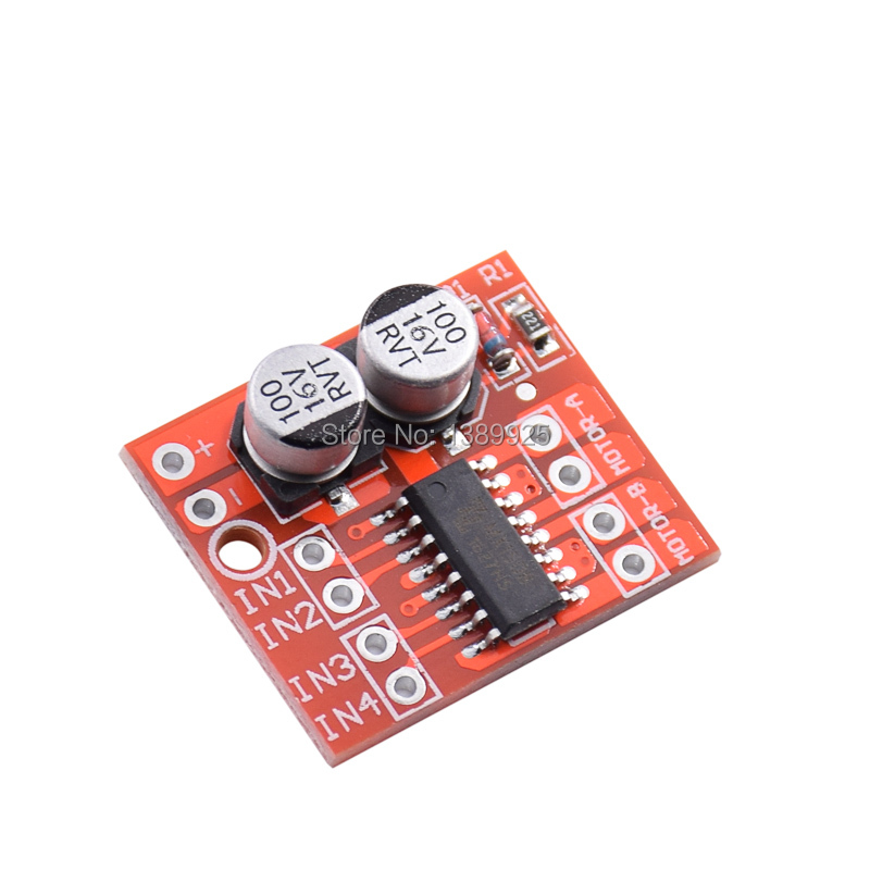 1PCS 2 CHANNEL DC Motor Drive Module Positive Inversion PWM Speed Adjustment Double H Bridge Mini Stepper Motor Victory L298N
