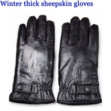 New fashion Male sheepskin finger gloves thickening sheep shearing thermal wool winter cold-proof