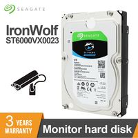 Seagate Surveillance 6TB Video HDD Internal Hard Disk Drive 7200RPM SATA 6Gb/s 3.5inch 256MB Cache HDD For Security ST6000VX0023