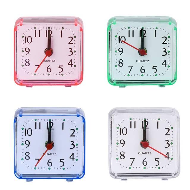 6adf54cd11b placeholder Novo Mini Praça Quartz Beep de Alarme Relógio De Mesa De  Plástico Mesa de Viagem Portátil