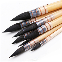 20RQ Genuine Squirrel Hair Wooden Handle Good Quality Watercolor Painting Art Brush
