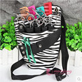 Professional Hair Tool Bag Zebra Design Hairdressing Salon Portable Tool Case For Hair Styling Shoulder Belt bag