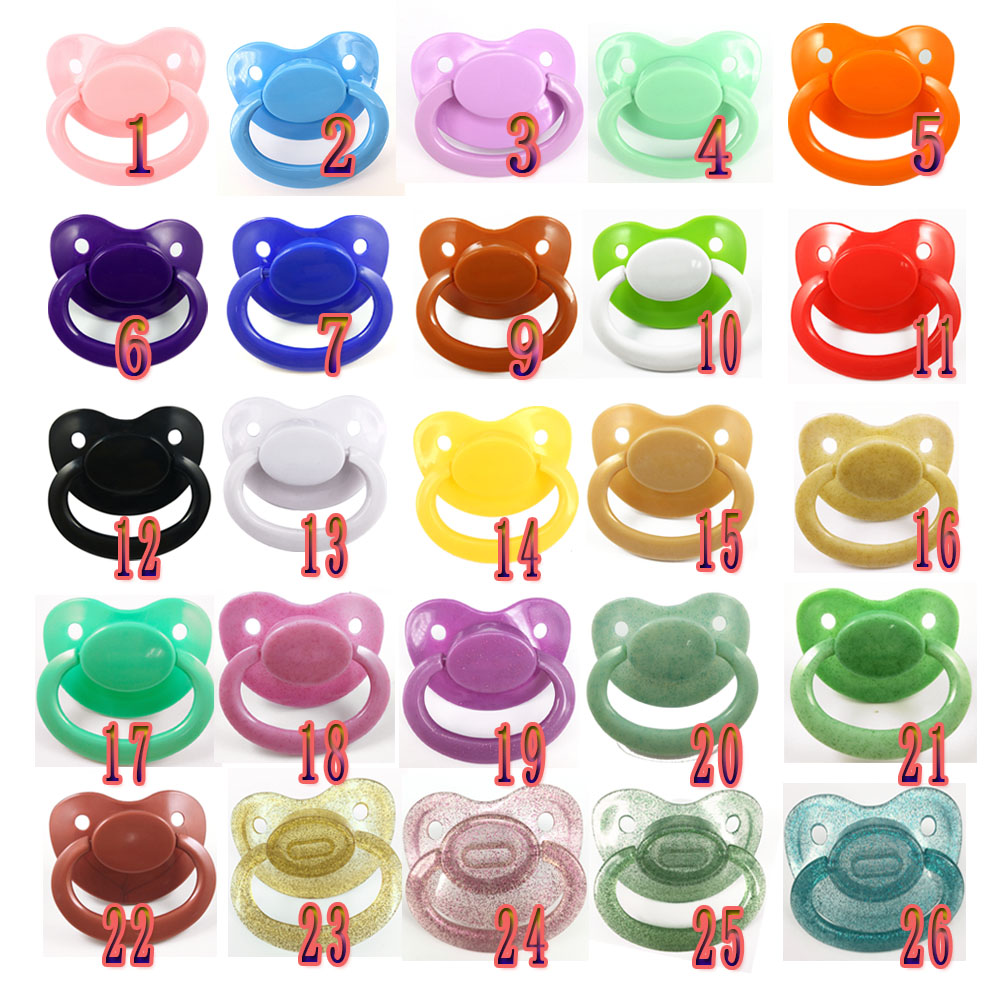 ABDL Adult Baby Pacifier Unisex Multicolor Large Adult Size Pacifier Little Space Daddys Girl