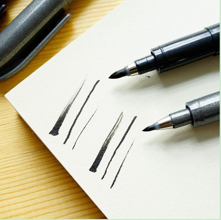 2 Pcs Zebra Brush Pen Chinese Japanese Calligraphy Brush