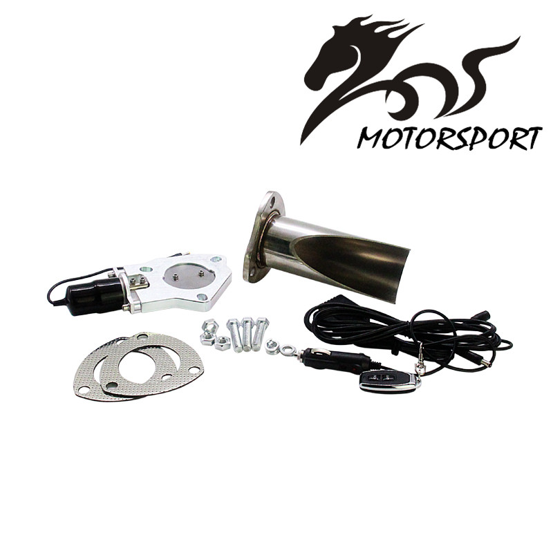 Stormcar 2.5/3 Inch Electric Stainless Exhaust Cutout With Remote Control With Be Cut Pipe Exhaust Cut Out Kit espeeder high quality 2 25 inch exhaust cutout with remote control with be cut pipe exhaust cut out muffler cut out valve kit