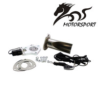 Stormcar 2.5/3 Inch Electric Stainless Exhaust Cutout With Remote Control With Be Cut Pipe Exhaust Cut Out Kit