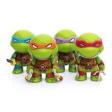 4pcs/lot 7cm Teenage Mutant Ninja Turtles figures TMNT Action Figure Toys Dolls Raphael TURTLES
