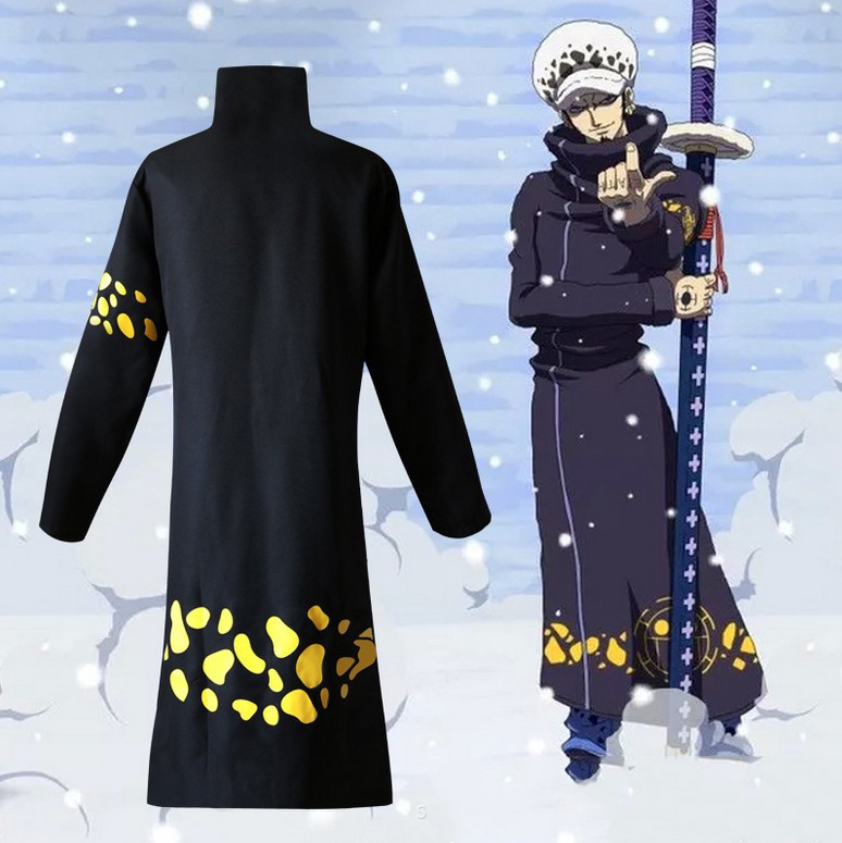 Boy one piece Adult Cosplay Costume Anime Cosplay Trafalgar legal Death Surgeon Cosplay Costume Coat