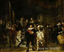 Paintings for living room wall,The Night Watch-Rembrandt van Rijn,High quality,Hand-painted