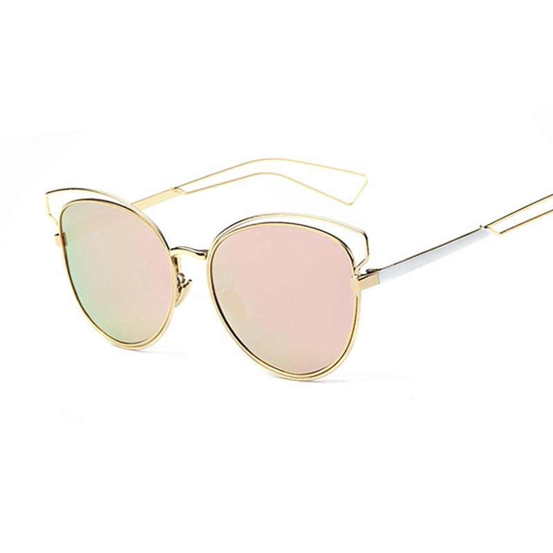 Polarized Mirror female Women Cat Eye Eye polarized Brand Designer dámy Sun brýle pro ženy vintage retro Feminino