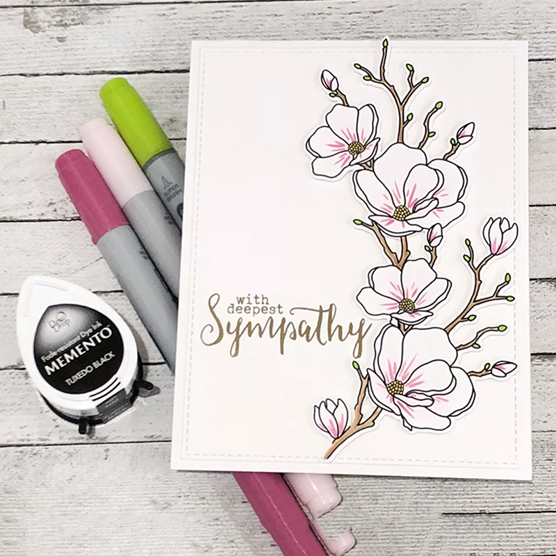 Metal Cutting Dies And Rubber Stamps Sympathy Flowers For Scrapbooking Craft Dies Cut Stencil Card Making Album Sheet Decoration