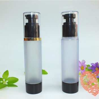 50ml vacuum black bottle with black pump lid cosmetic lotion airless bottle with black pump F20171890