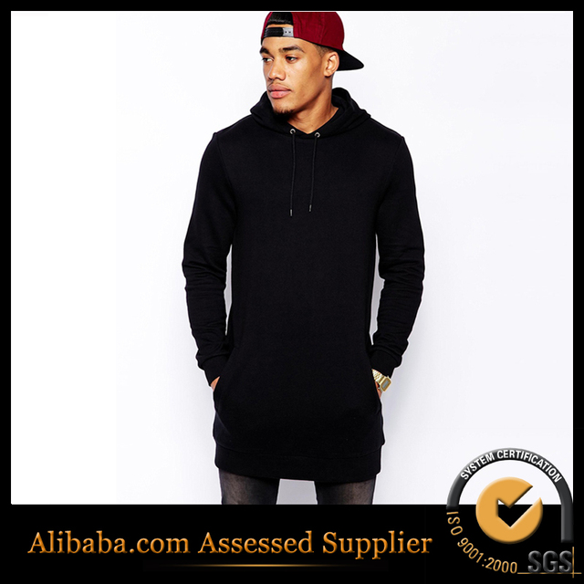 Hoodies Sweatshirts Men Us Size Solid Fleece street wear Hip Hop Oversize Hoody Longline Fashion Pullover Hiphop Hoodie