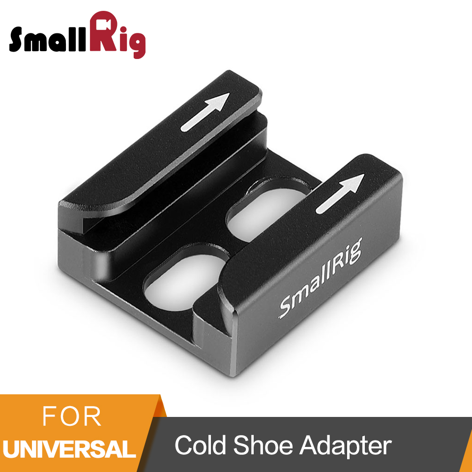 SmallRig Cold Shoe Adapter with Two Secure Bending Compatible For Universal Camera Accessories with 1/<font><b>4</b></font>