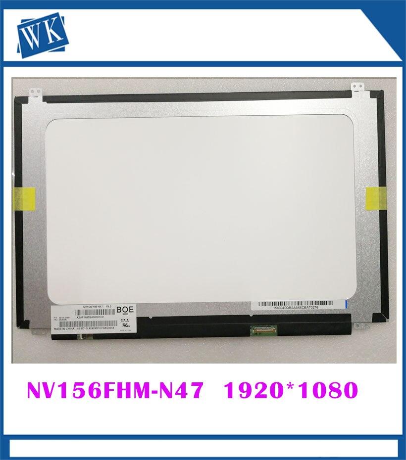 Free shipping NV156FHM-N47 For ASUS X510UQ S510UA LP156WF9 SPK2 NV156FHM N47 B156HAN02.1 15.6 1920*1080 IPS matrix