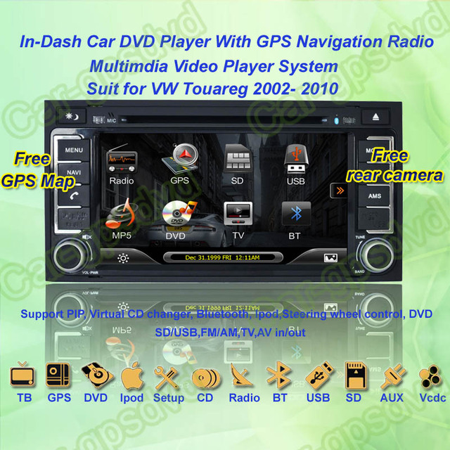 2002- 2010 VW Touareg GPS Navigation DVD Player ,TV,Multimedia Video Player system+Free GPS map+Free camera