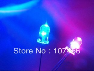 1000pcs lot 5mm flashing red blue flash led LED 5mm blinking red blue led 5mm light