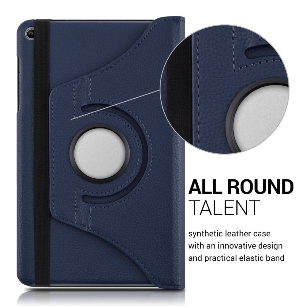 360 Rotating Leather Flip Case For Huawei Mediapad T1 701U Tablet Case For Huawei T1 7.0 T1-701U Tablet Lychee Pattern Cover+Pen