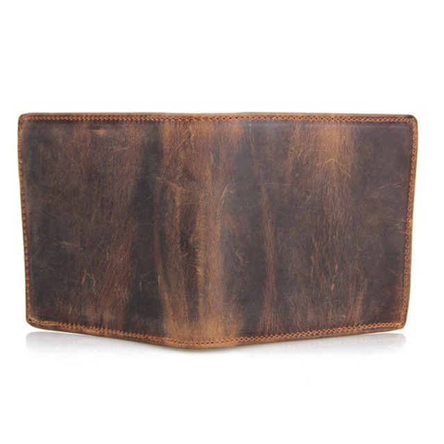 100% Top Quality Cow Genuine Leather Men's Wallets 1