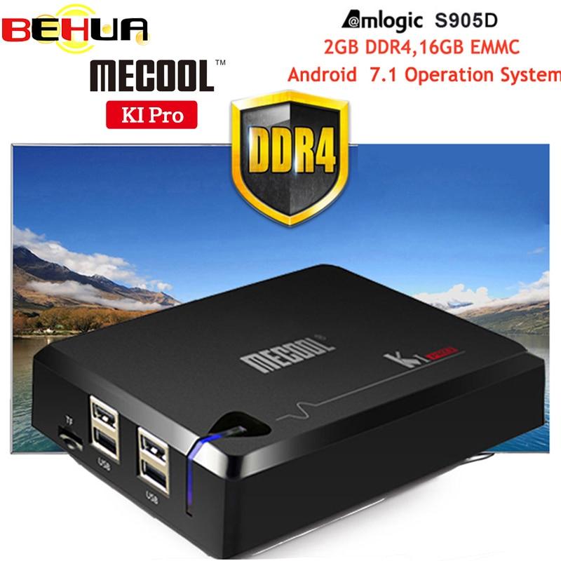 MECOOL KI Pro Android 7.1 DVB-S2&DVB-T2&DVB-C COMBO Smart TV Box 2GB DDR4 16GB Amlogic S905D 64 bit Quad Core KIpro Set-top Box