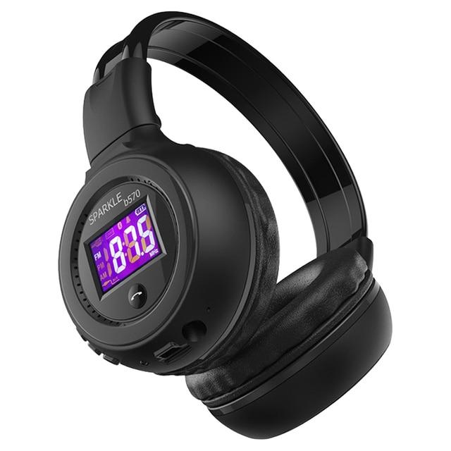 ZEALOT B570 auriculares, inalámbricos por Bluetooth, auriculares estéreo con pantalla LCD, Radio FM, tarjeta TF, MP3 y micrófono