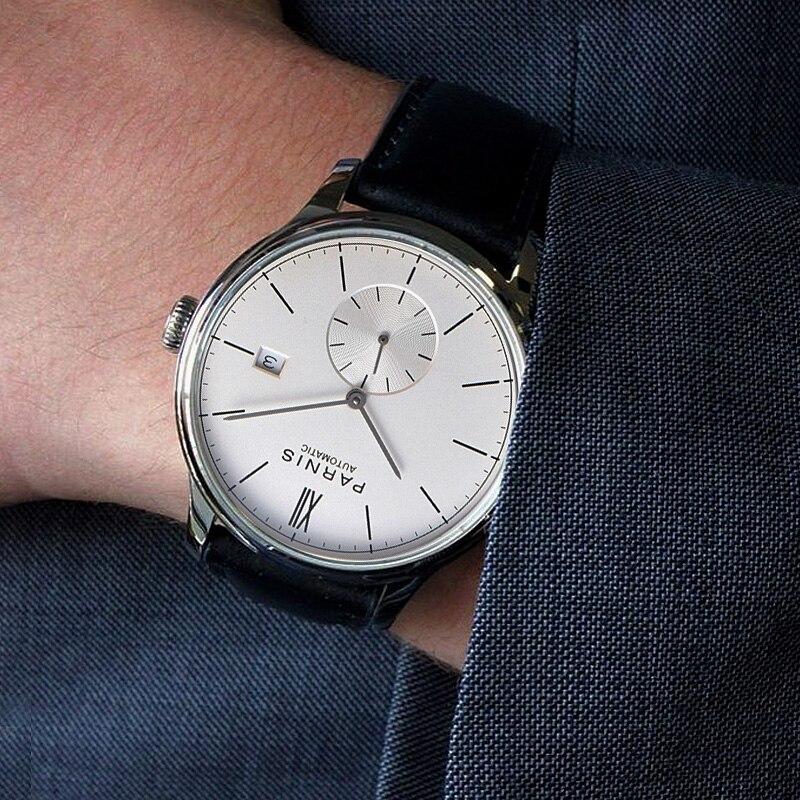 Parnis Mécanique Montres Diver Minimaliste Montre pour Hommes Montre-Bracelet Horloge Auto Date Étanche Automatique Relogio Masculino 2018