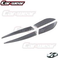 Prawdziwe Carbon Fiber Tail Light Brwi Powieki Dla Mitsubishi Lancer EVO X 10 Sedan [1011086]