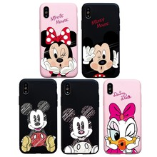 Cartoon Mickey Minnie Daisy Mrs Mr Soft Case For iPhone 6 6s Plus X XS Max XR Case Coque Cover For iphone 7 8 Plus 5s SE Case(China)