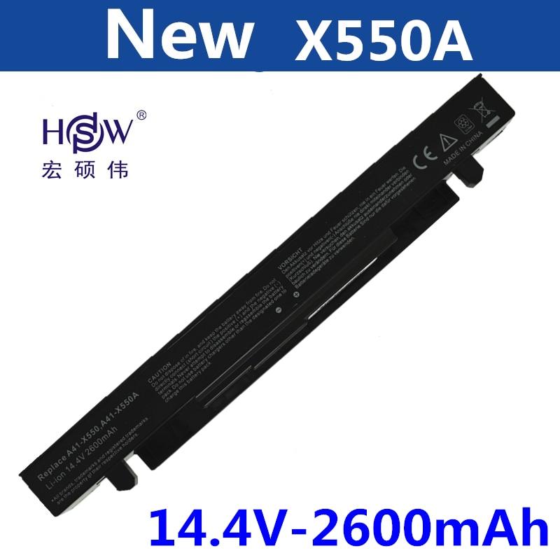 цена на HSW Battery For Asus A41-X550 A41-X550A A450 A550 F450 F550 F552 K550 P450 P550 R409 R510 X450 X550 X550C X550A X550CA bateria