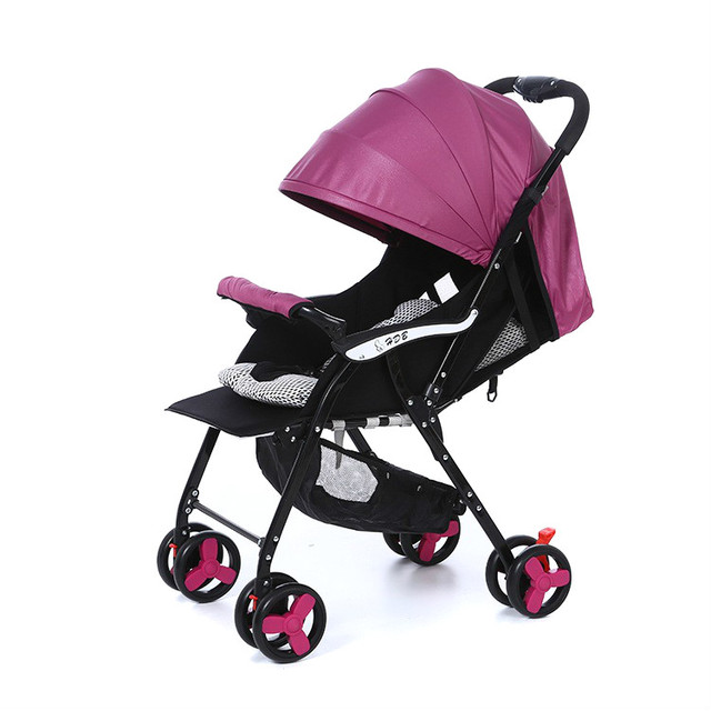 New arrival baby stroller high landscape bidirectional wheel shockproof foldable baby trolley