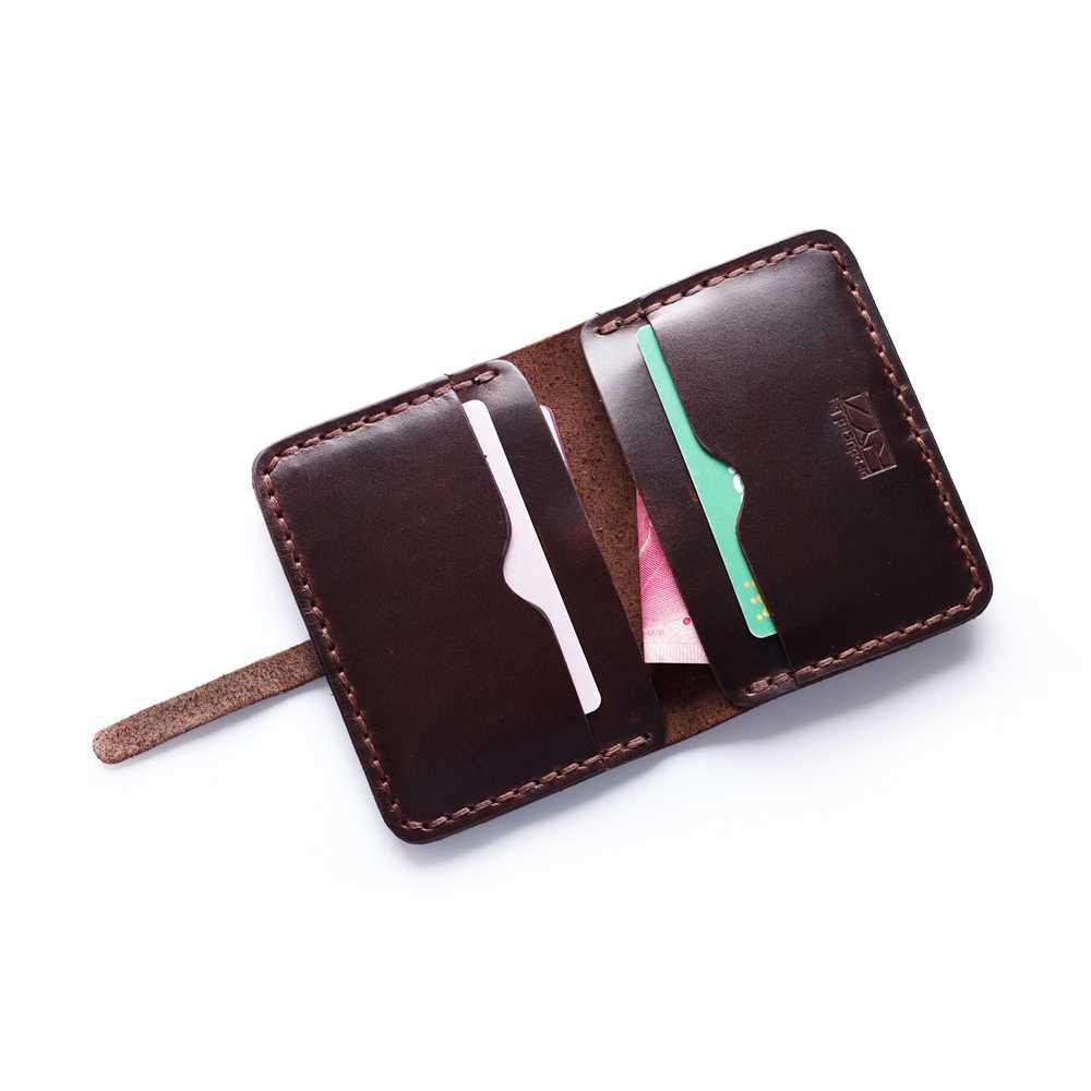 cea71fbab088 ... Мини-кошелек из натуральной кожи ручной работы Кредитная карта  маленький кошелек мужской Кожаный минималистичный кошелек ...