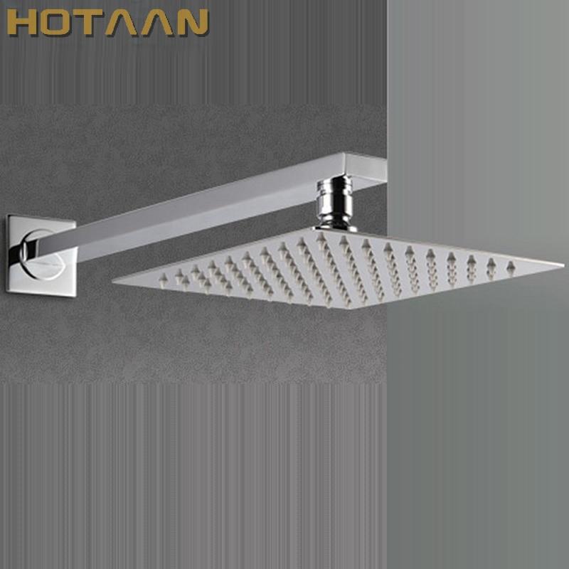 Free Shipping 20cmx20cm Rain Shower.Ultra Thin Rain Shower Head with arm & Chuveiro Ducha With 42cm Arm.Accessorie Banheiro