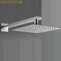 Free Shipping 20cmx20cm Rain Shower.Ultra Thin Rain Shower Head with arm & Chuveiro Ducha With 42cm Arm.Accessorie Banheiro