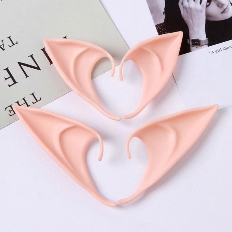 1 Pair 2 Pcs High Quality Latex Halloween Party Elven Elf Ears Anime Fairy Cospaly Costumes Vampire Latex