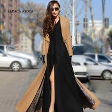 Plus Size S-2XL Nova Moda Feminina Sobre As Mulheres Casaco Longo Casaco de Inverno Zíper Destacável Jaqueta Manteau