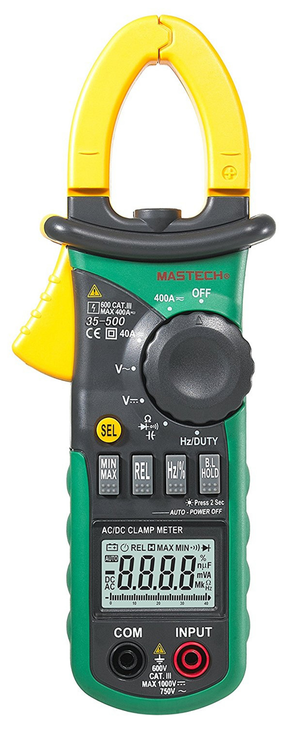 MASTECH MS2108A Auto range Digital Clamp Meter Multimeter AC 400A Current Voltage Frequency clamp MultiMeter Tester Backlight aimo m320 pocket meter auto range handheld digital multimeter