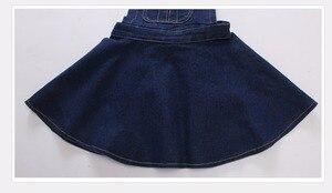 Image 5 - Chumhey 5 14T yaz kız askı elbise kız Denim önlük fişleri Mini elbiseler tulum çocuk giysileri çocuk giyim