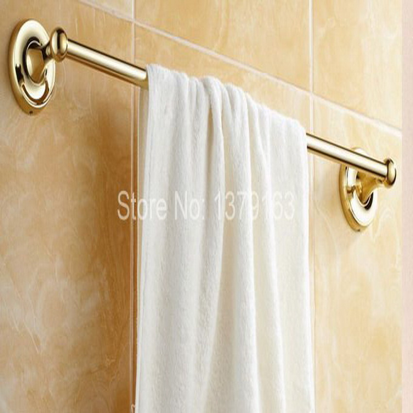 Luxury Gold Color Brass Bathroom Accessory Wall Mounted Single Towel ...