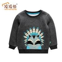 New Top Design Cute Animal Cartoon Kids Tops Boys Girls T Shirt Long Sleeve Clothing Casual