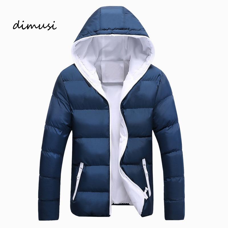 DIMUSI Men Winter Jacket Fashion Hooded Thermal Down Cotton   Parkas   Male Casual Hoodies Windbreaker Warm Coats 5XL,YA696