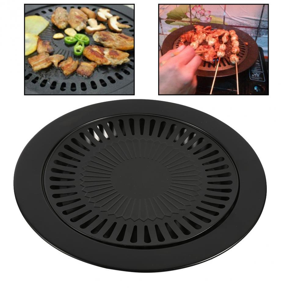 BBQ Grill Rack Barbeque Kitchen Barbecue Pan Indoor Outdoor Nonstick Roasting Trays Tool