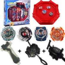 4pcs / Set Beyblade 버스트 4D 세트 발사대 및 투기장 금속 전투 전투 융합 클래식 장난감 키즈 원래 상자