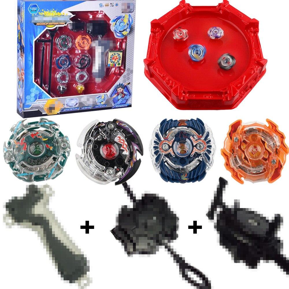 Juego 4 unids/set Beyblade Burst 4D con lanzador y Arena Metal lucha batalla fusión juguetes clásicos con caja Original para niños